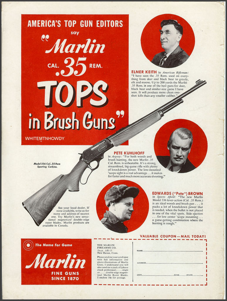 Marlin 35 Remington Print ad