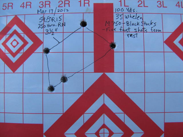 M750 with NRS stock at 100yds